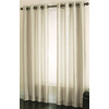 allen + roth Edistone 84-in L Solid Ivory Grommet Window Sheer Curtain