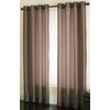 allen + roth Edistone 84-in L Solid Chocolate Grommet Window Sheer Curtain