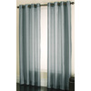 allen + roth Edistone 84-in L Solid Blue Grommet Window Sheer Curtain