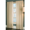 allen + roth Florence 63-in L Solid Cream Rod Pocket Window Curtain Panel