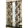 allen + roth Waterbury 84-in L Floral Chocolate Grommet Window Curtain Panel