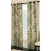 allen + roth Waterbury 84-in Green Cotton Grommet Single Curtain Panel
