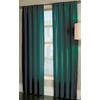 allen + roth Florence 84-in L Solid Teal Rod Pocket Window Curtain Panel