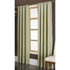 allen + roth Parksley 84-in L Light Filtering Geometric Basil Rod Pocket Window Curtain Panel