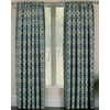 allen + roth Callendale 84-in L Light Filtering Geometric Blue Rod Pocket Window Curtain Panel