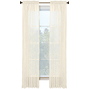 Style Selections Kenna 84-in L Solid Ivory Rod Pocket Window Curtain Panel