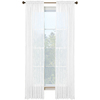 Style Selections Kenna 84-in L Solid Snow Rod Pocket Window Curtain Panel