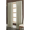 allen + roth Parksley 95-in Ivory Cotton Rod Pocket Single Curtain Panel