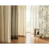 allen + roth Oberlin 84-in L Geometric Straw Back Tab Window Curtain Panel