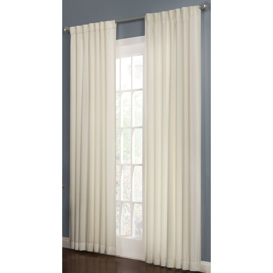 ... 84-in L Solid Snow Thermal Back Tab Window Curtain Panel at Lowes.com