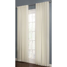 allen + roth Beeston 95-in Polyester Back Tab Single Curtain Panel