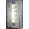 allen + roth Oberlin 63-in L Light Filtering Geometric Lt Blue Back Tab Window Curtain Panel