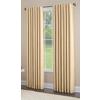 allen + roth Glenellen 63-in L Light Filtering Solid Gold Back Tab Window Curtain Panel