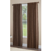 allen + roth Gatton 95-in L Room Darkening Solid Chocolate Thermal Back Tab Window Curtain Panel