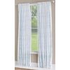 allen + roth Birkbeck 95-in L Light Filtering Geometric Teal Rod Pocket Window Curtain Panel