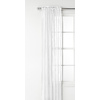 Style Selections Glenellen 84-in L Light Filtering Solid White Rod Pocket Window Sheer Curtain