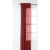 Style Selections Glenellen 84-in L Light Filtering Solid Red Rod Pocket Window Sheer Curtain