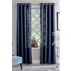 allen + roth Glenellen 84-in L Light Filtering Solid Blue Grommet Window Curtain Panel