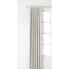 Style Selections Glenellen 84-in L Light Filtering Solid Ivory Rod Pocket Window Curtain Panel