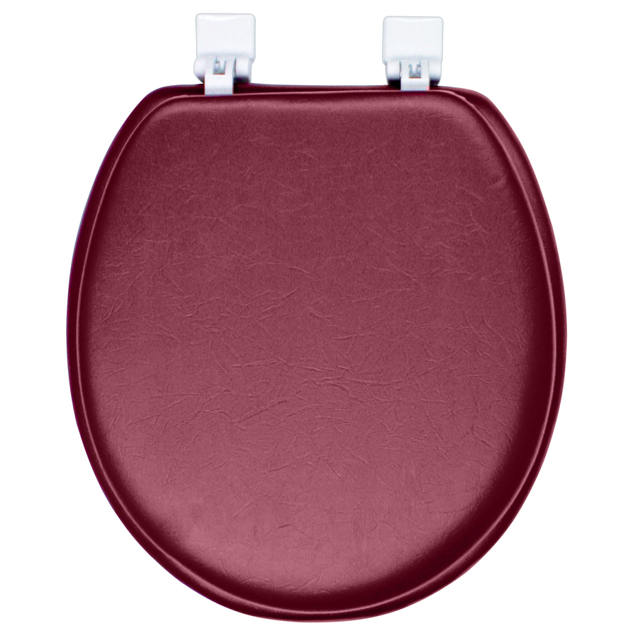 Shop classique merlot red cushioned vinyl round toilet seat at - Commode classique ...