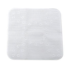 Style Selections 21-in x 21-in White Polyester Shower Stall Mat
