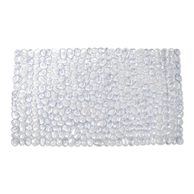 Style Selections 30-in x 17-in Clear Polyester Bath Mat