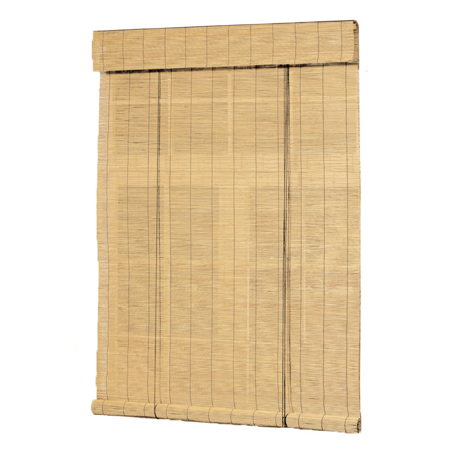 Shop Style Selections Natural Bamboo Slat Light Filtering Roll Up Bli