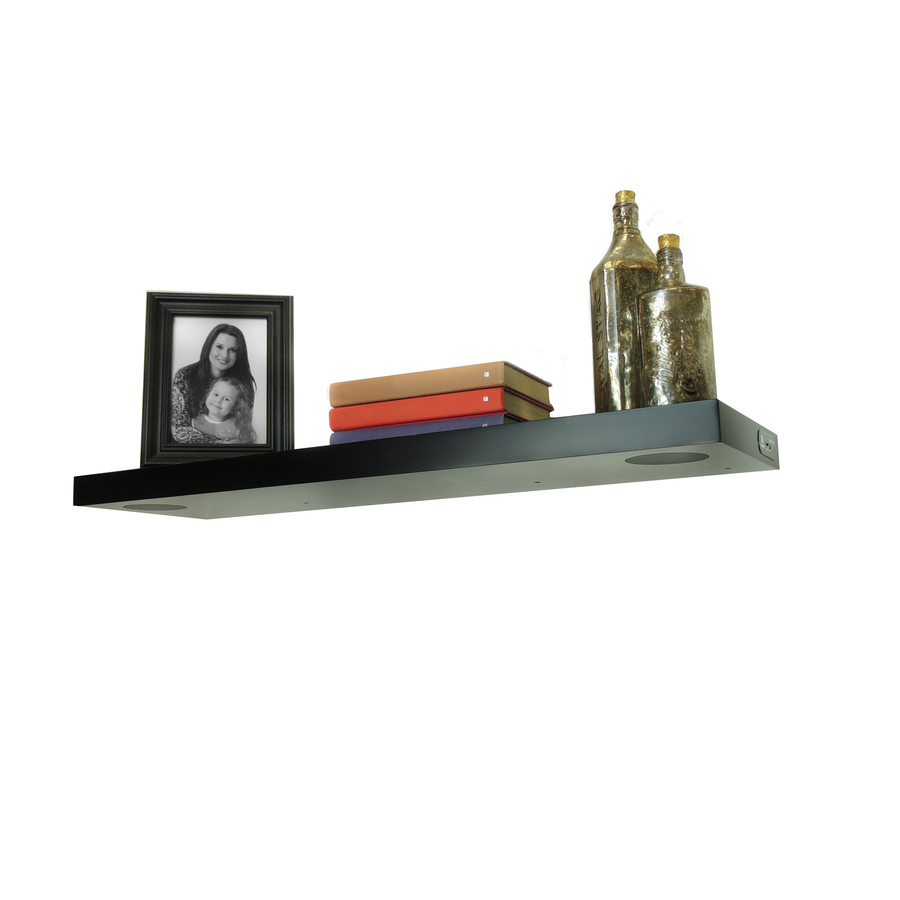 shop studiosync 35 4 in wood wall mounted shelving with. Black Bedroom Furniture Sets. Home Design Ideas