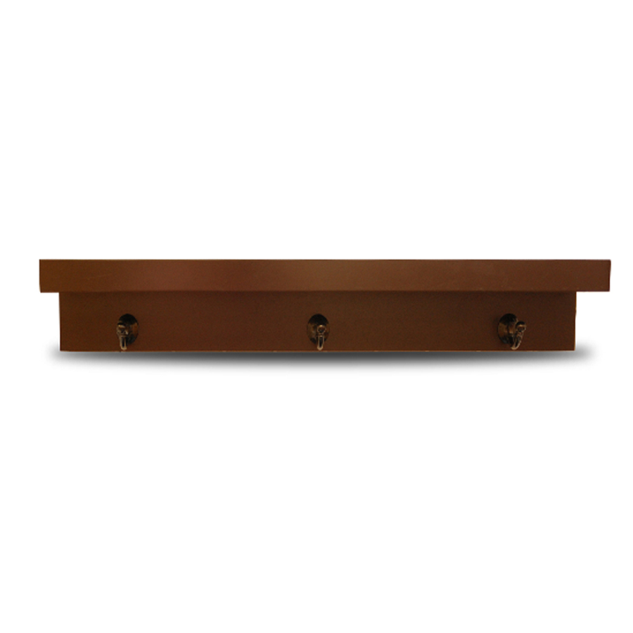 Shop Allen Roth 30 In Wood Wall Mounted Shelving At