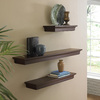 allen + roth 18-in W x 2.75-in H x 8-in D Wood Wall Mounted Shelving