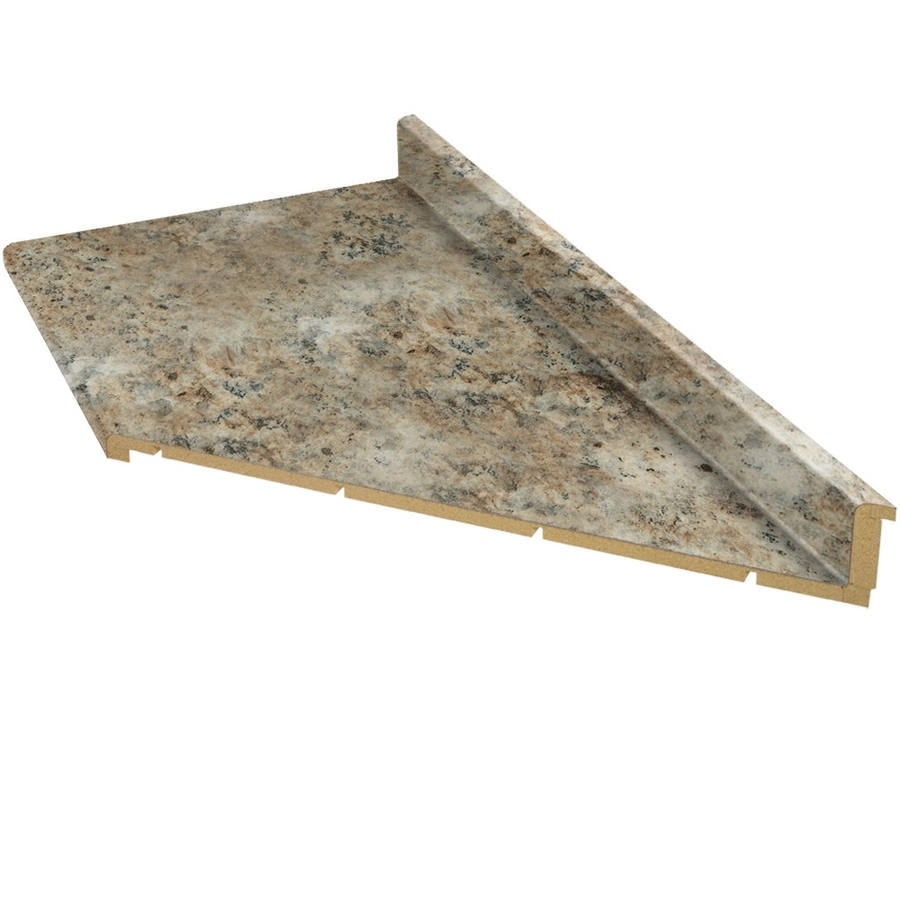 Shop vti fine laminate countertops 10 ft madura gold for Lowes countertops