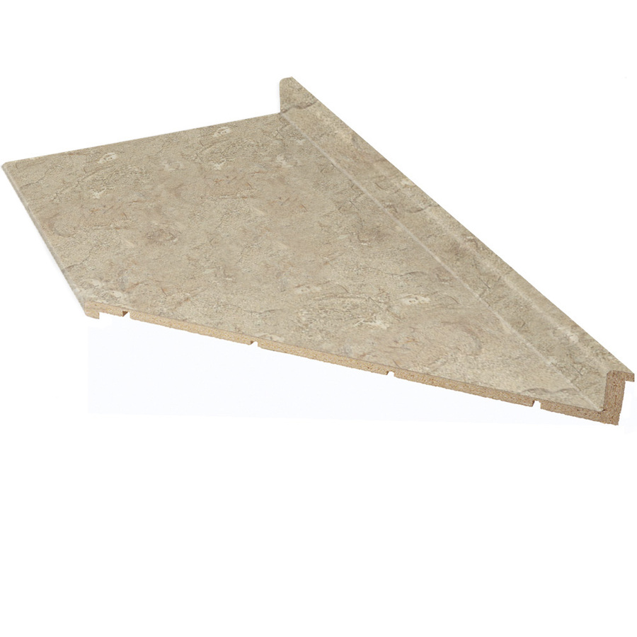 Shop vti fine laminate countertops 8 ft travertine matte for Lowes countertops