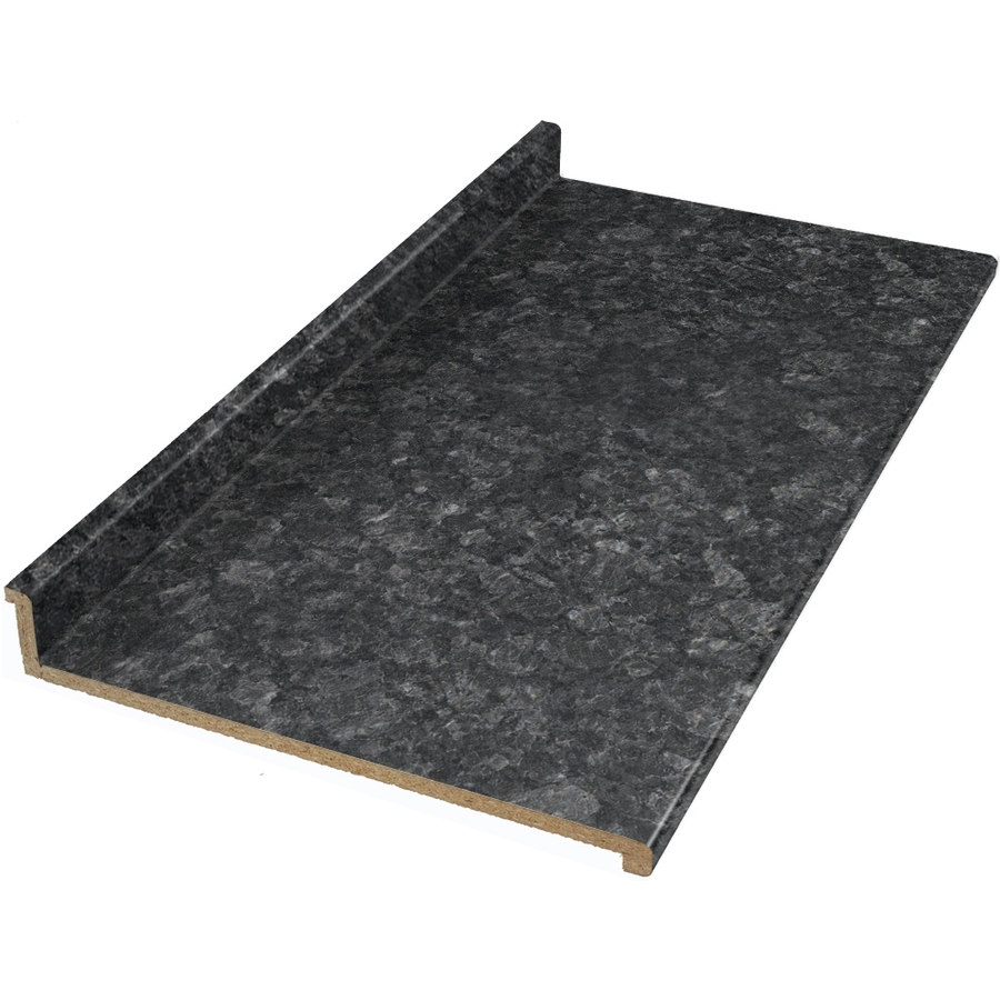 Shop vti fine laminate countertops formica 10 ft midnight for Lowes countertops
