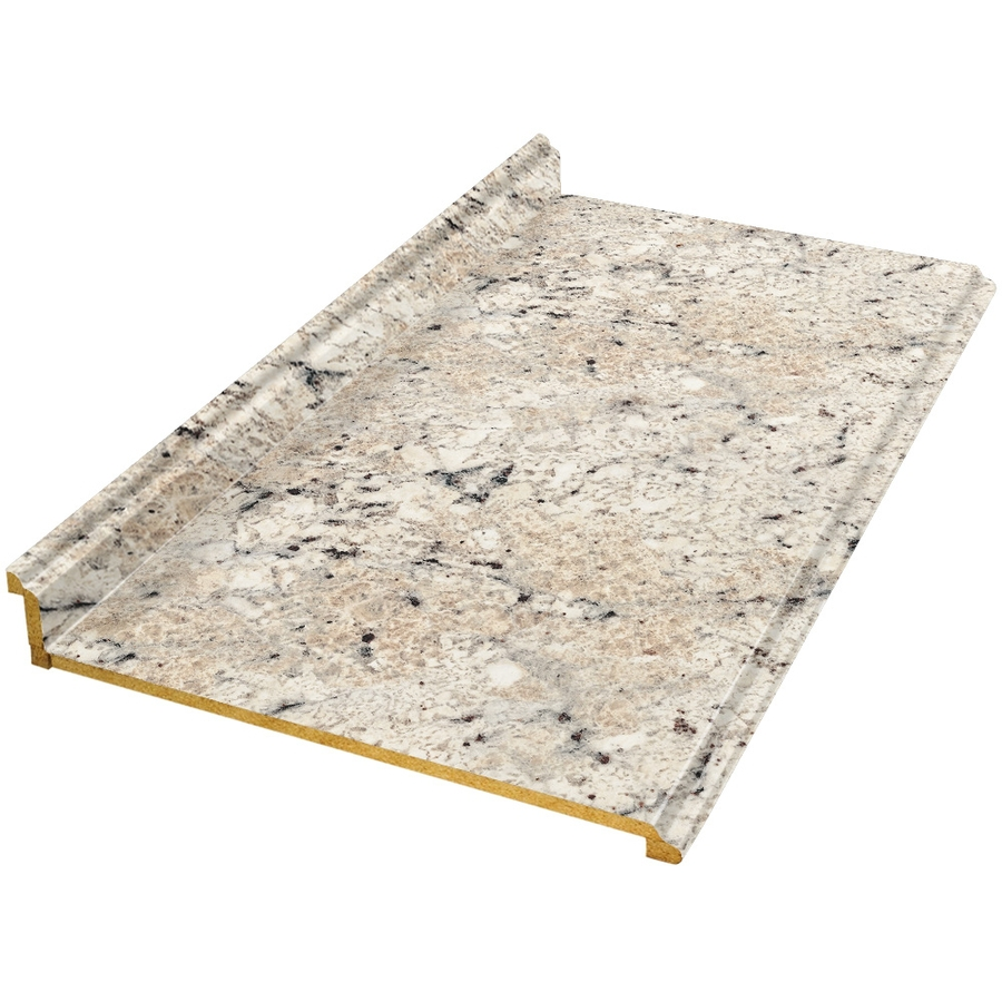 Shop vti fine laminate countertops 12 ft ouro romano for Lowes countertops
