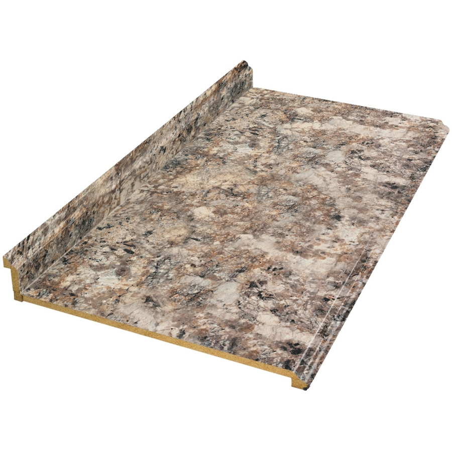 Shop vti fine laminate countertops 12 ft antique for Lowes countertops
