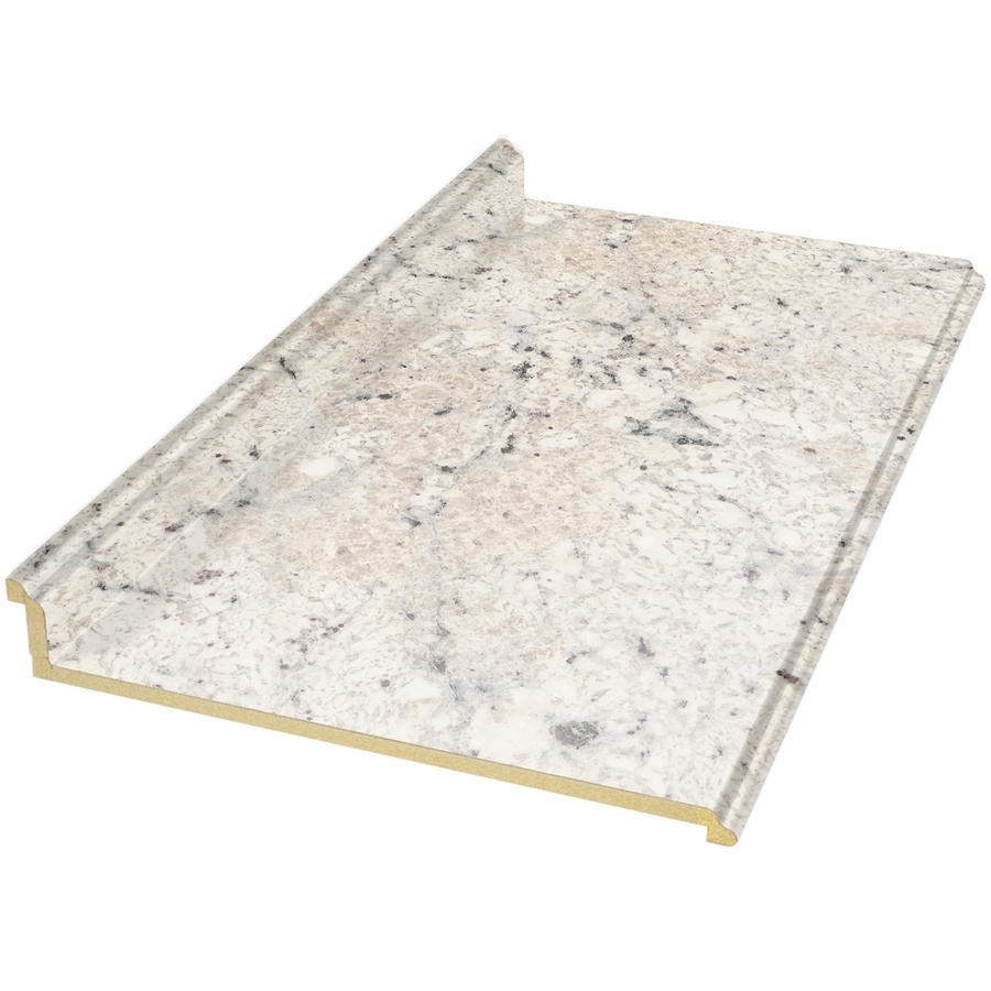 Shop belanger fine laminate countertops 8 ft ouro romano for Lowes countertops
