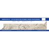 VT Dimensions 0.75-in W x 4.25-in H Ouro Romano Etchings Laminate Ogee Kitchen Side Splashes