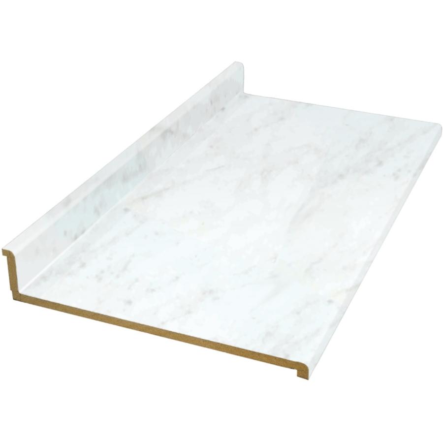 Shop Belanger Fine Laminate Countertops 6 Ft White Carrara Straight Laminate Kitchen Countertop