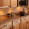 VT Dimensions 25.25-in Milano Amber Quarry Laminate Kitchen End Cap
