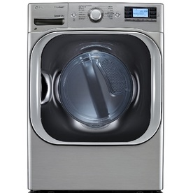 LG 9-cu ft Stackable Electric Dryer with Steam Cycles (Graphite Steel)