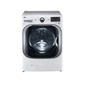 LG 5.2-cu ft High-Efficiency Stackable Front-Load Washer with Steam Cycle (White) ENERGY STAR