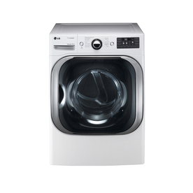 LG 9-cu ft Stackable Electric Dryer with Steam Cycles (White)
