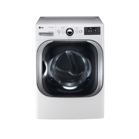 LG 9-cu ft Stackable Gas Dryer with Steam Cycles (White)
