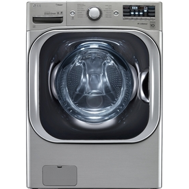 LG 5.2-cu ft High-Efficiency Stackable Front-Load Washer with Steam Cycle (Graphite Steel) ENERGY STAR