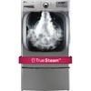 LG 9-cu ft Stackable Electric Dryer Steam Cycles (Graphite Steel)