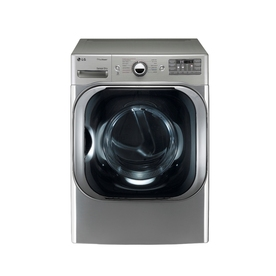 LG 9-cu ft Stackable Gas Dryer with Steam Cycles (Graphite Steel)
