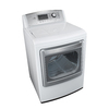 LG 7.3-cu ft Electric Dryer Steam Cycles (White)