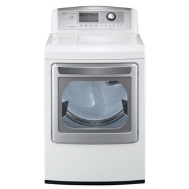 LG 7.3-cu ft Gas Dryer with Steam Cycles (White)
