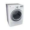 LG 7.1-cu ft Stackable Electric Dryer (White)