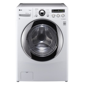 LG 3.6-cu ft High-Efficiency Stackable Front-Load Washer with Steam Cycle (White) ENERGY STAR